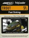 Airflo Polyleader - TROUT 5,4 kg - 5ft. - 1,5 m Fast Sinking