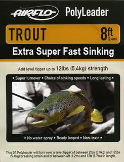 Airflo Polyleader - TROUT 5,4 kg - 8ft. - 2,4 m Extra Super Fast Sinking