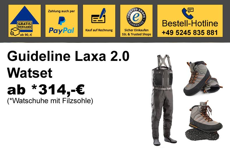 Guideline Laxa 2.0 Wat-Set mit Laxa Watschuhe